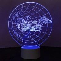 Optical Illusion 3D Spaceship Mood Lamp