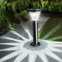 Black Nickel Solar PIR Garden Post Light