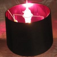 Black & Pink Lamp Shade