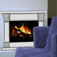 Fireplace Interior Wall Sticker