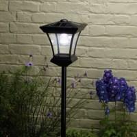 Solar Powered Garden Lamp Post
