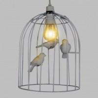 White Birdcage Pendant Lampshade