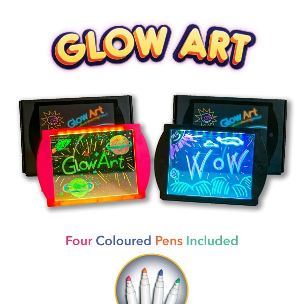 drawing board - Glow Art neon lighting effect