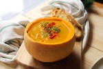 Warming Spicy & Sweet Butternut Squash Soup