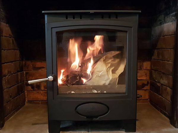 Wood burning stove installer in Taunton, Somerset