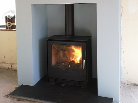 Fireplace alterations in Taunton, Somerset.