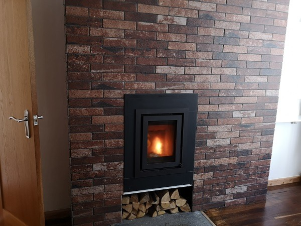 Barbas inset stove installation in Taunton, Somerset.