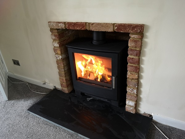 Fireplace renovation in Taunton, Somerset.