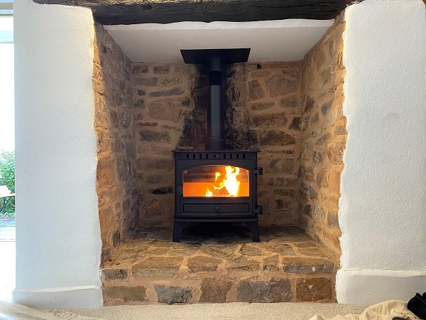 Traditional log burner installers in Tiverton, Devon.