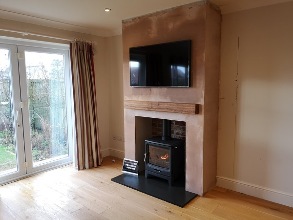 False chimney breast in Wellington, Somerset.