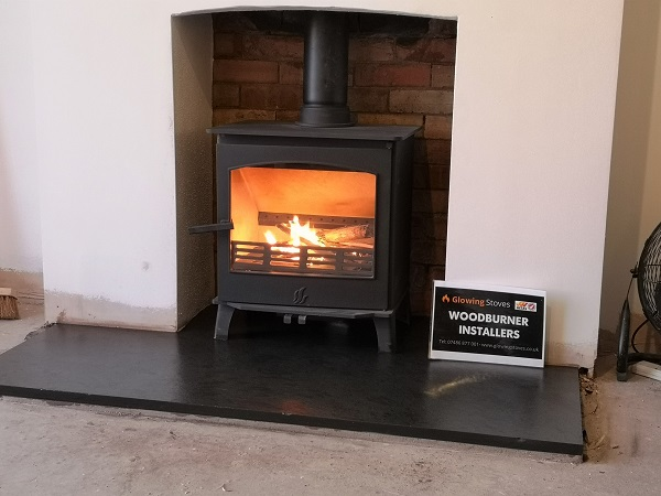 Wood burner installations in Somerset.