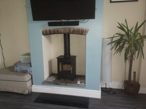 Stove installation in Chard, Somerset.