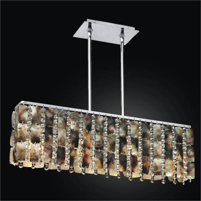 Linear Chandelier Mother Of Pearl Moon Beams 631 By Glow Lighting