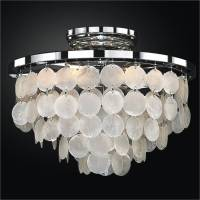 Capiz Shell Flush Mount Light | Bayside 636  GLOW Lighting