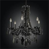 Black Chandeliers With Crystals. Black Crystal Chandeliers ...