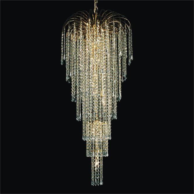 Entry Foyer Chandelier Cascade 532t By Glow Lighting
