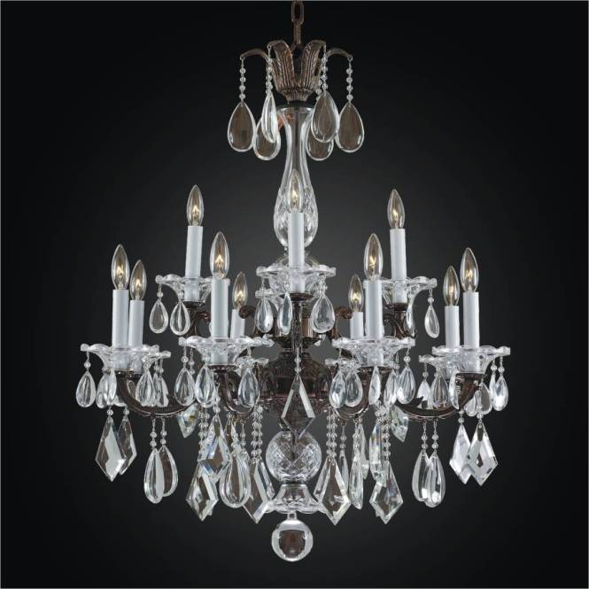 12 Light Chandelier Old World English Manor 546m By Glow Lighting