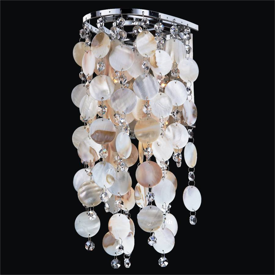 Shell Sconce Oyster Shell Wall Light Ensconced 611 GLOW Lighting
