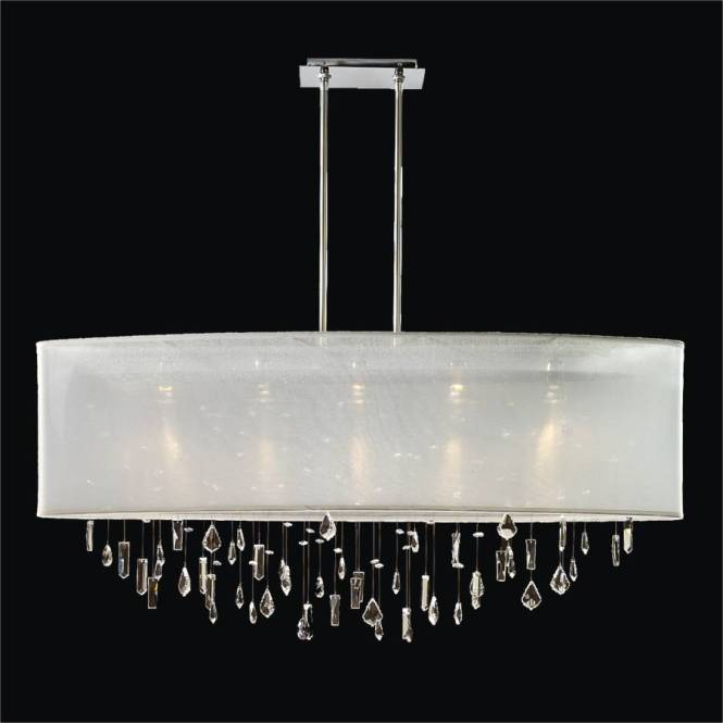 Oval Shade Chandelier Crystal Drop Lifestyles 006 By Glow Lighting