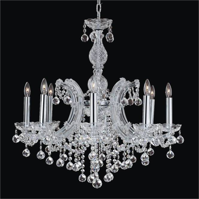Maria Theresa 8 Light Crystal Ball Chandelier 561f By Glow Lighting