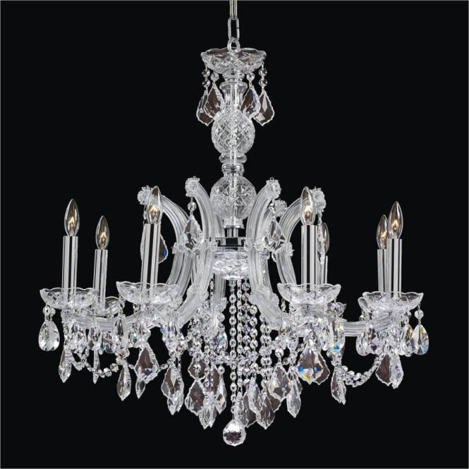 Maria Theresa 8 Light Crystal Chandelier 561l By Glow Lighting