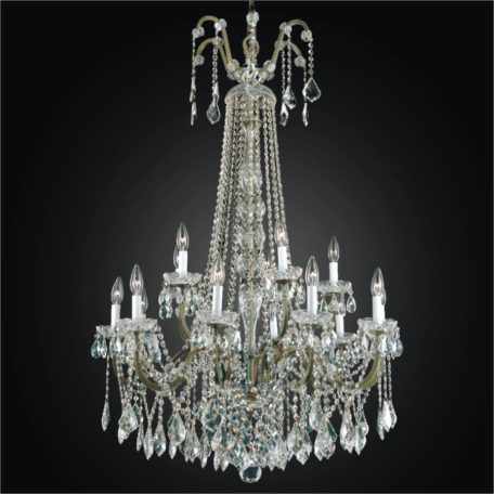 Wrought Iron Foyer Chandeliers Large Crystal Chandelier Old World 543a By Glow Lighting