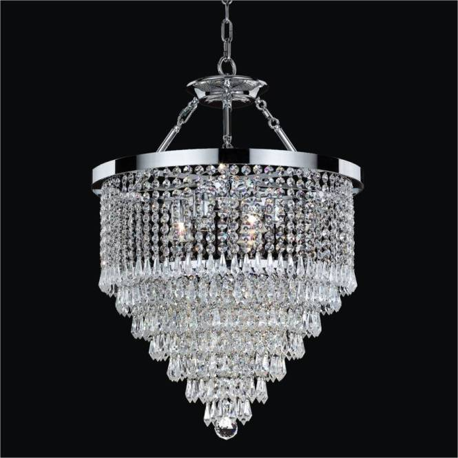 Hanging Crystal Chandelier Spellbound 605 By Glow Lighting