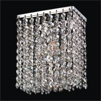 Contemporary Crystal Wall Sconce | Urban Chic 596  GLOW ...