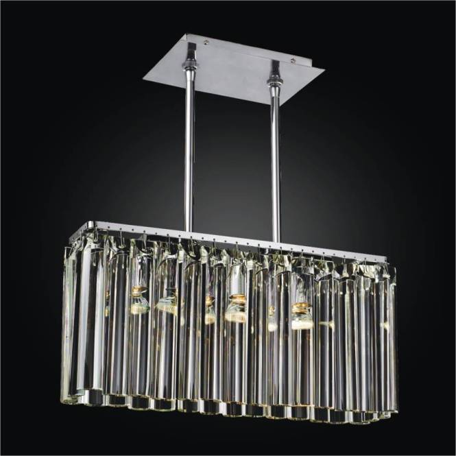 Linear Glass Chandelier Wind Song 620 By Glow Lighting