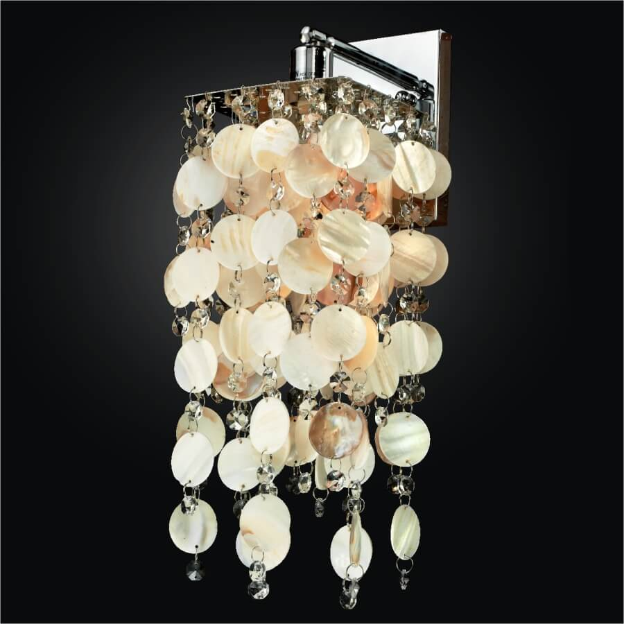 cityscape 598sw natural shell wall sconces 1 3 lights