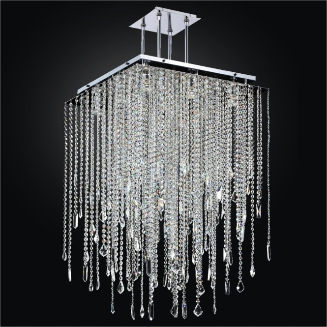 Square Chandelier Crystal Drop Cityscape 598m By Glow Lighting
