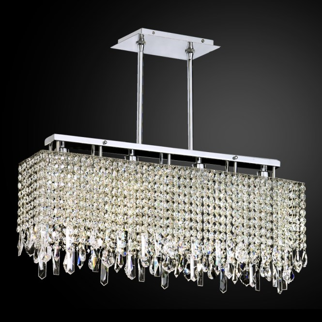 Crystal Drop Chandelier Linear Innovations 592 By Glow Lighting