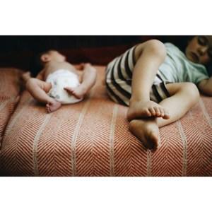 children laying down