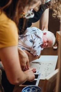 Footprint of newborn baby