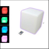 "16"" BIG LED CUBE LIGHT FURNITURE- END TABLE/STOOL MULTI ..."