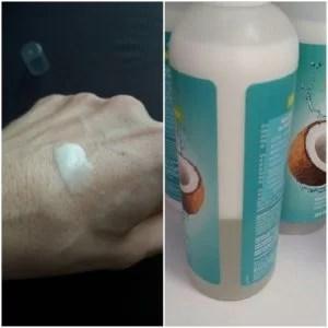 Body Drench Coconut Water - konsystencja balsamu i opakowanie balsamu w sprayu