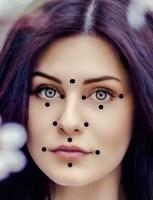 Punkty akupresury twarzy