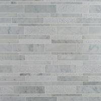 Linear Mosaic Glass Tile | Tile Design Ideas