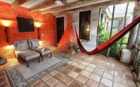 A porch in an estate suite at Hidden Valley Inn in Belize.