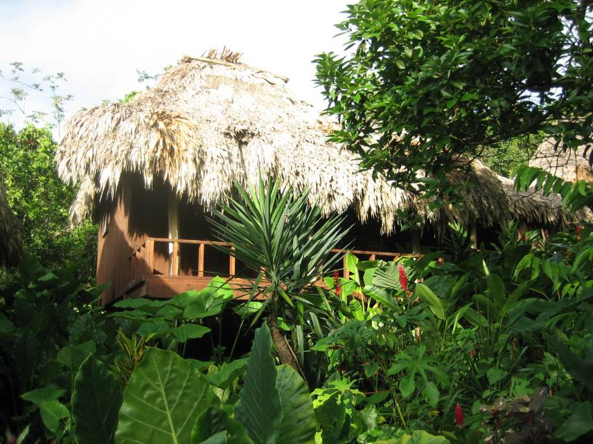 A traditional cottage in Belize.