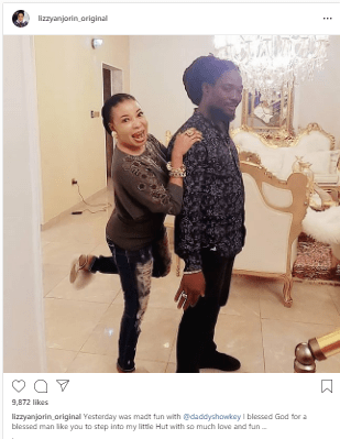 Daddy Showkey Visits Lizzy Anjorin 'At Her Home' (Photo)