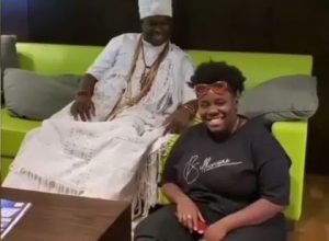 Teni Talks To Ooni of Ife About Her Relationship With Wizkid (Video)