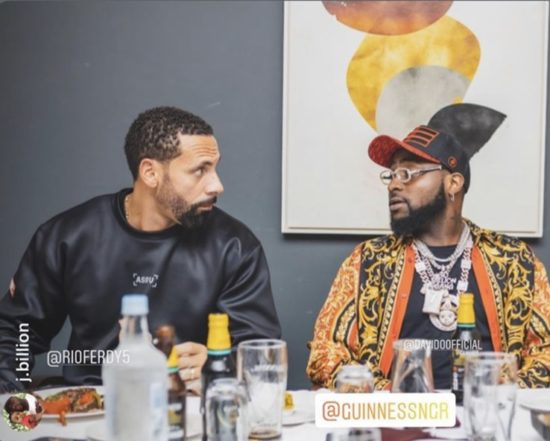 Ferdinand reacts to Davido's comment