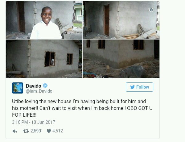 Chelsea Legend Didier Drogba Reacts To Davido Building A House For Young Boy Fan, Utibe (Photos)