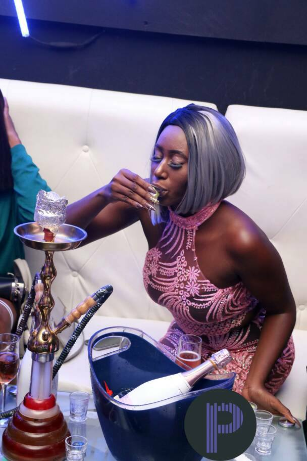 See What Ex Beauty Queen, Nelly Mbonu Did At Abuja Night Club (Photos)