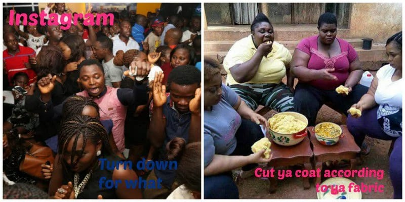 vllkyt45dkp2hehps.d57081af - Fake Life! 12 HILARIOUS Photos That Show The Difference Between Nigerian Girls on Instagram and Reality (Photos)