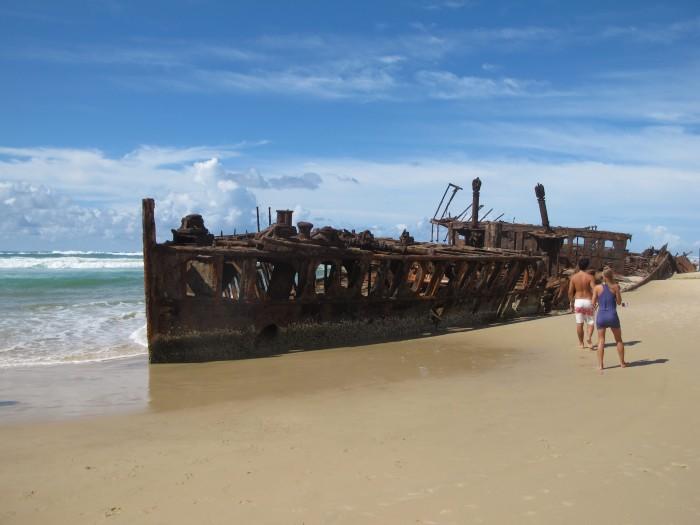 Fotokulisse Maheno, Fraser Island