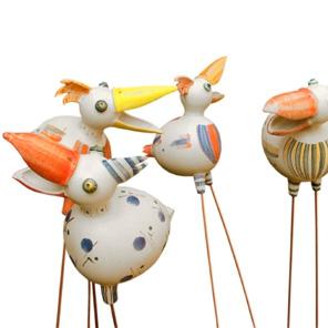Keramik Cornelia Woitun: BACHSTELZEN