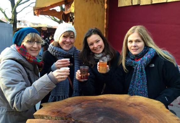 Testrunde 2: Heike Mühldorfer, Janina Weinhold, Annica Müllenberg und Kerstin Graf.