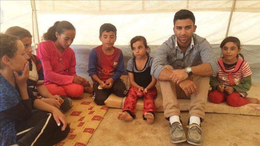 Paruar Bako im Flüchtlingskamp im Nord-Irak, Foto: privat
